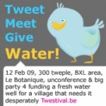 Tweet, Meet, Give Water!