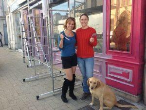 Monika & Anne-Laure en pleine rénovation